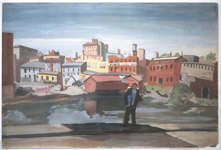 Untitled (Man in Front of Factory)