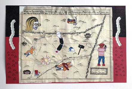 Mapa de San Antonio y sus misiones en el aniversario de trecientos anos, despues del Capitan Don Luis Antonio Menchaca