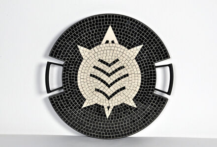 """The Turtle tray in hand-set mosaic, from the """"Strange Animals Collection"""" by Ugo La Pietra, Spilimbergo, Italy, 2016."""