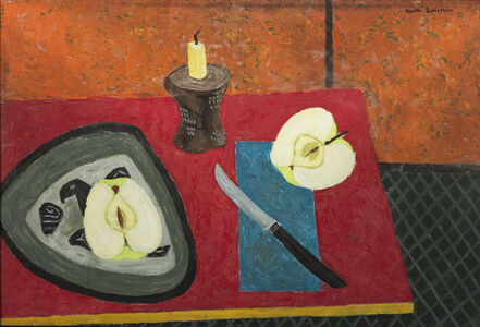 [Still Life with Green Apples]