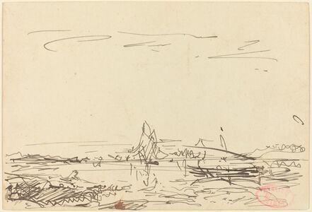 A Cove with a Sailboat