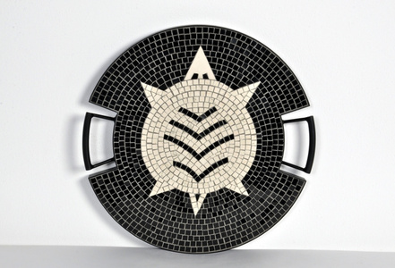 "The Turtle tray in hand-set mosaic, from the ""Strange Animals Collection"" by Ugo La Pietra, Spilimbergo, Italy, 2016."