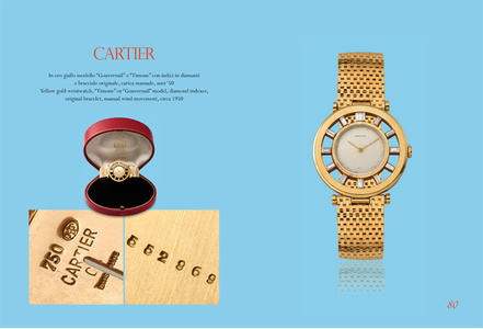 "Yellow gold wristwatch, ""Timone"" or ""Gouvernail"" model"