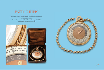 "Pink gold ""Wold Time"" pocket watch"