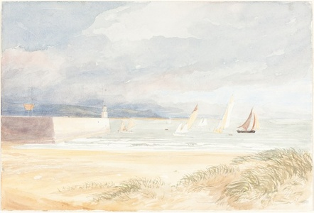 Shore Scene with Sailboats