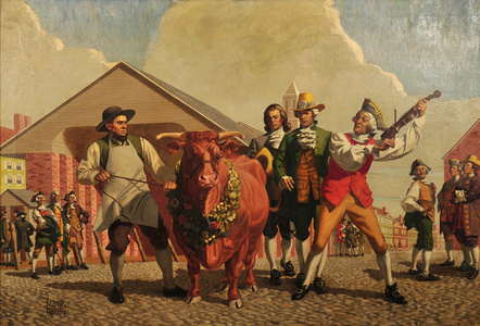 Colonists and Prize Bull
