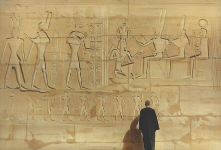 Self-portrait next to the wall, Luxor 2014