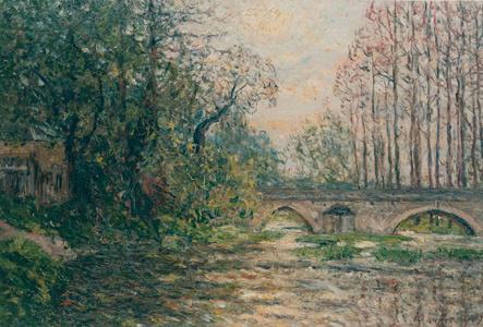 Soleil couchant sur le Loir, Laradin (Loir-et-Cheer)