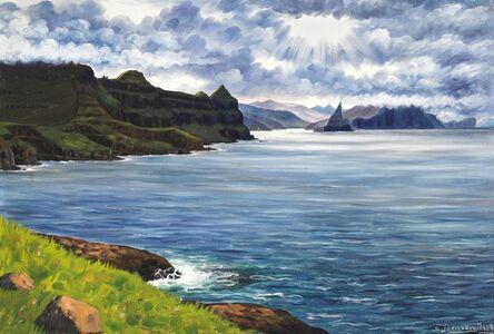 View from Mykines towards Sørvágsfjordur, the Faroe Islands