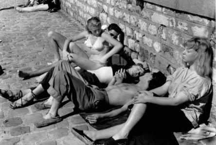Sunbathers along the Seine, Paris