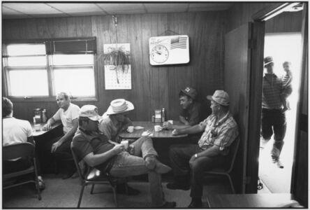 Farmers in a coffee shop at the auction barn, Sleepy Eye, Minnesota