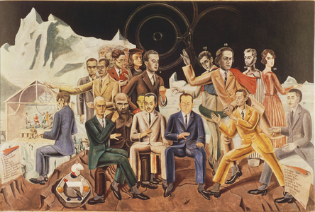 Au rendez-vous des amis, 1922: Aragon, Breton, Baargeld, De Chirico, Eluard, Desnos, Soupault, Dostoyevsky, Paulhan, Perst, Arp, Ernst, Morise, Fraenkel, Raphael