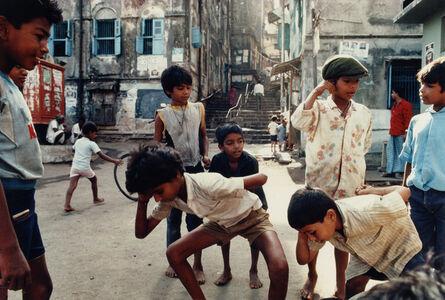 Playing 'Punishment,' a Marble Game, Bombay Maharashtra
