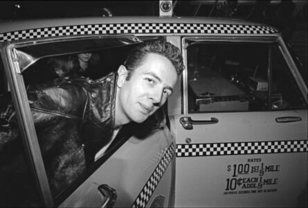 The Clash arrive at JFK - Joe Strummer getting into a taxi
