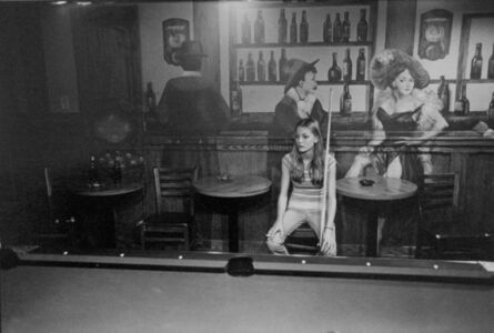 Woman in a poolroom, Fort Collins, Colorado