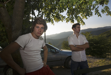 Theo and Stanislas on the Hilltop