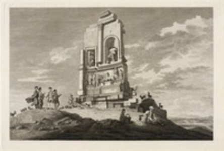 A view of the monument of Philopappus
