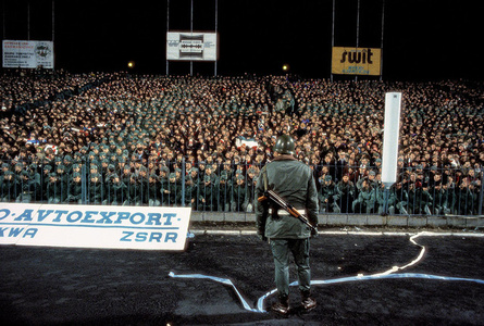 Martial Law. Football match between Legia Warszawa and Dynamo Tbilisi, a Soviet team, at the Legia Stadium in Warsaw, March 1982. Several thousand soldiers and police were placed in the stands to ensure that no anti-Soviet disturbances took place.