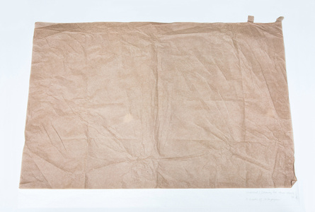 Untitled (Drawing for Four Objects #2), 2 sheets of silk paper
