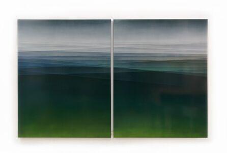Spaces in Between Diptych (Moss Green)