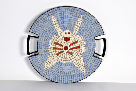 """The Spider tray in hand-set mosaic, from the """"Strange Animals Collection"""" by Ugo La Pietra, Spilimbergo, Italy, 2016."""