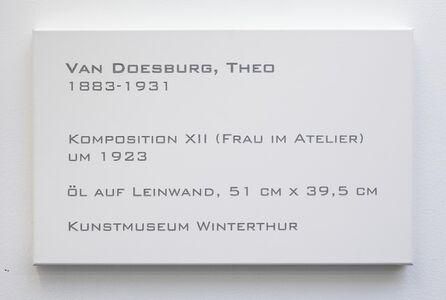 LCM, Theo van Doesburg, Komposition XII (Frau im Atelier), um 1923