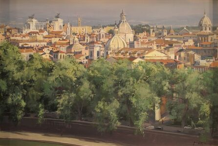 """""""A Walk by the Tiber (view of Rome from Castel Sant' Angelo"""""""