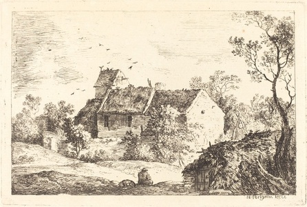 House with a Dovecote in a Rolling Landscape