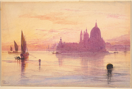 Venetian Fantasy with Santa Maria della Salute and the Dogana on an Island