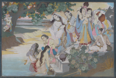 Untitled (Krishna with Gopis on Chir Ghat)