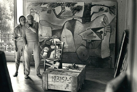 Jacqueline and Picasso on 3rd floor of La Californie