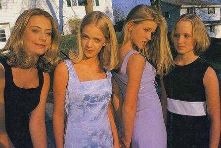 Alli, Annie, Hannah and Berit, all 13, Before the First Big Party of the Seventh Grade, Edina, Minnesota, 1998