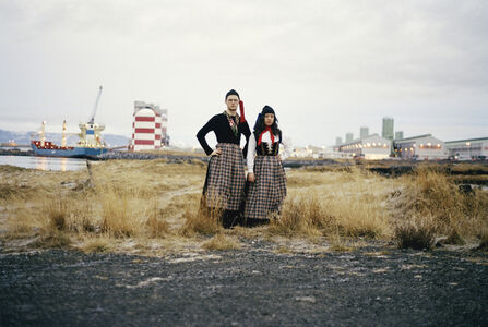 Untitled (Portrait of the artists wearing the Icelandic women´s costume; Peysuföt and Upphlutur)