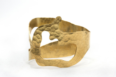 """Rhea"" BRACELET gold plated and Hand Hammered By Jacques Jarrige"