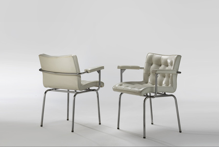 Pair of Capitonnées Armchairs