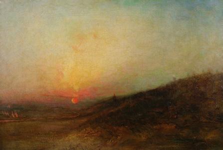 Indian Encampment at Sunset