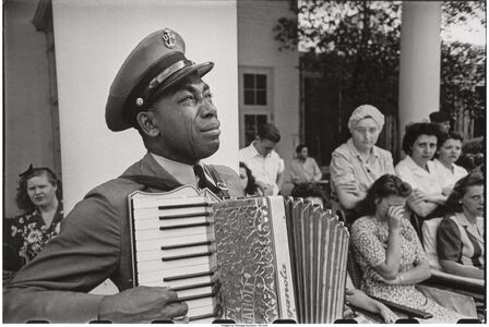 C.P.O. Graham Jackson, Warm Springs, Georgia, mourning the death of FDR, April 23,