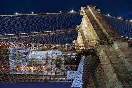 Drumbo (Vienna, Austria) at Brooklyn Bridge, New York City