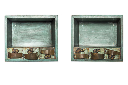 Pair of Wall-Mounting Nightstands