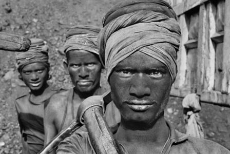 Coal miners.Dhanbad, Bihar State, India.
