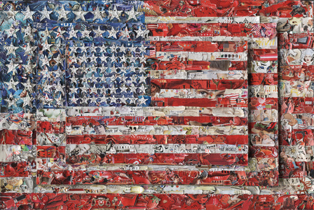 Three Flags, after Jasper Johns (Pictures of Magazines 2)
