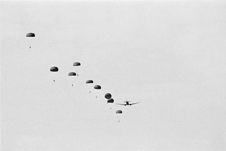 Training jump by SADF outside Windhoek, Namibia