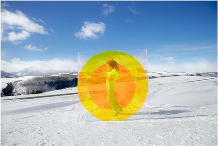 Untitled (Snow Circle Girl) from the COLORSHAPE Series