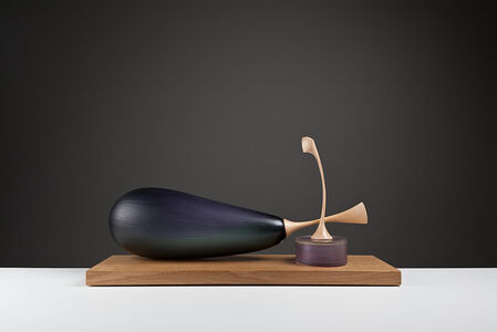 Still Life of Aubergine and Can Fruit