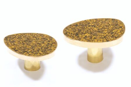 Pair of Tiger-eye coffee table