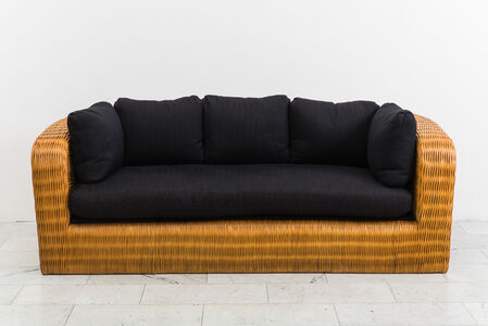 Wicker Pullman Sofa