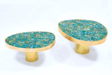 Pair of Turquoise coffee table