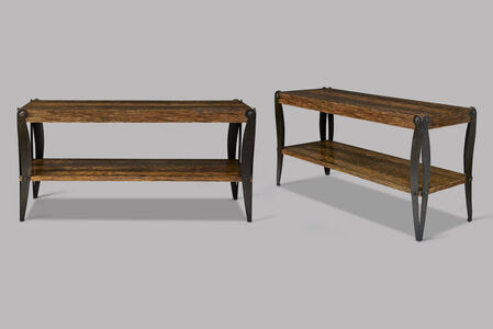 Pair of low rectangular tables