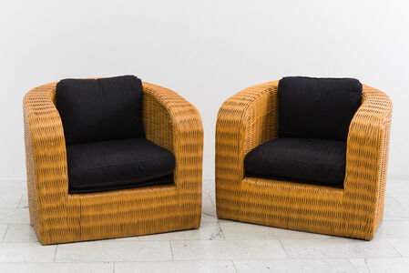Pair of Wicker Pullman Chairs