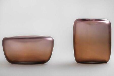 Canneto Laguna - Bronzo glass vases